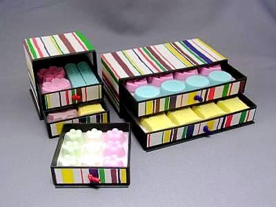 """タンス入り落雁""""わび"""":日本の心を和菓子に込めました"""