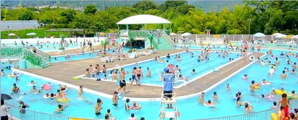 大阪のプール9. 大きなスライダー!芥川緑地プール