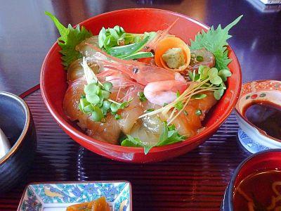 """能登丼ランキング⑨おめで""""タイ""""丼!鯛の漬け丼"""