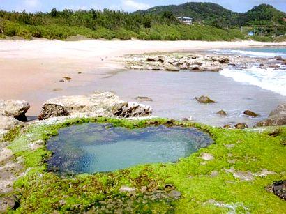 鹿児島のパワースポット⑨干潮時に現れるハート!ハートロック