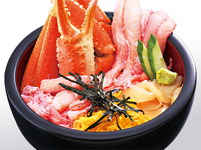 金沢海鮮丼ランキング④市場で食べるこだわりの蟹丼!海鮮どん屋の蟹ちらし丼