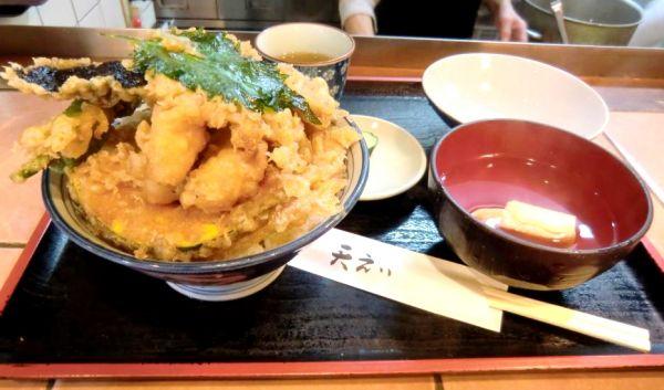 京都府超大盛りデカ盛りグルメ②ボリューム満点の天ぷらランチ「天えい」