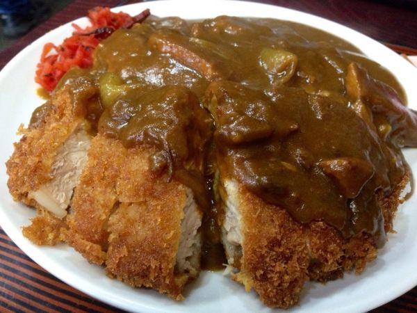 宮城県超大盛りデカ盛りグルメ⑥極厚のカツカレー!丸勝食堂