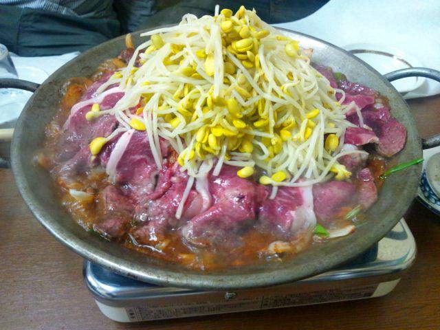 大阪鍋ランキング④韓国風のもつ鍋!兆治