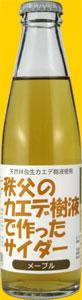 秩父お土産ランキング④香りはメープル、味はサイダー「秩父のカエデ樹液で作ったサイダー」(武甲酒造)