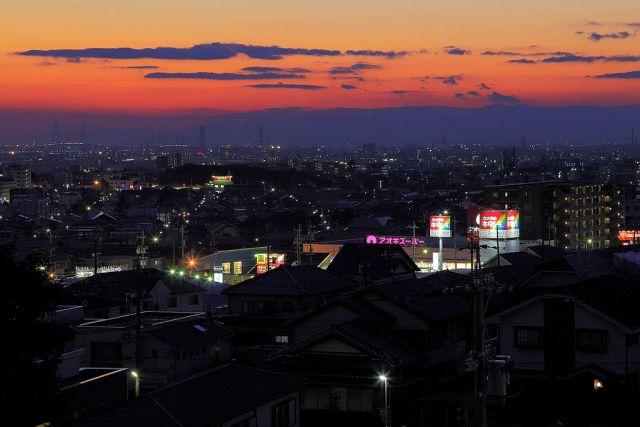 名古屋の大人のデートスポットランキング②大パノラマな都会の夜景「滝の水公園」