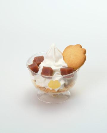 """名古屋ういろうランキング⑧""""仰天""""ういろうのパフェが新登場、マスコットキャラのかえるクッキーを添えて「青柳ういろう総本店家KITTE名古屋店」"""