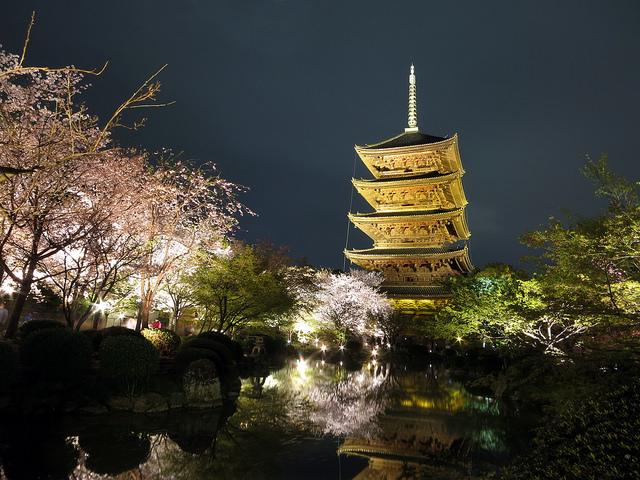 京都絶景撮影スポット⑤新幹線からも見える!東寺の五重塔