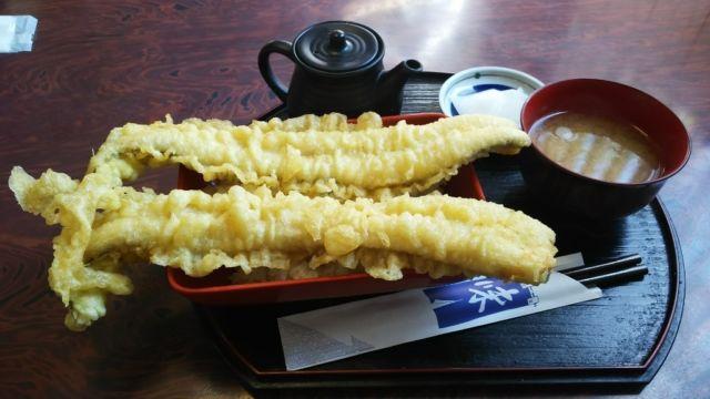 松島穴子丼ランキング⑧あなごを天重で!大漁