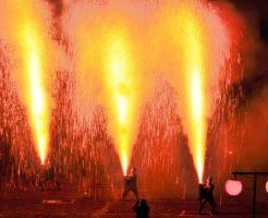 豊橋観光スポットランキング④火の粉舞い散る手筒花火を抱える勇壮な職人魂「豊橋祇園祭」