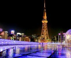 栄観光スポットランキング①ネオンサインが眩しい栄のシンボルタワー「名古屋テレビ塔」