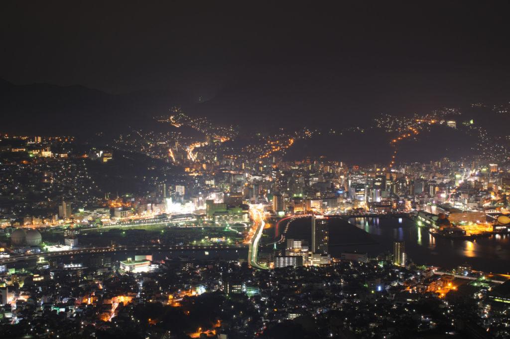 長崎県夜景ランキング①長崎の夜景を鑑賞するならまずはここに!稲佐山