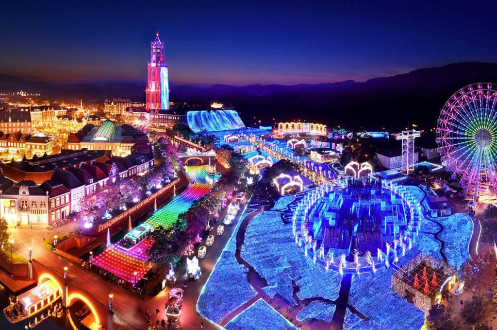 長崎県イルミネーションランキング①世界最大の輝き!ハウステンボス光の王国
