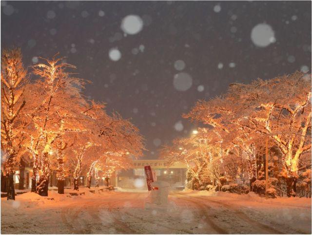 岩手県イルミネーションランキング⑩温泉街がイルミネーションで色づく「花巻温泉」